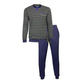 M.E.Q M.E.Q. Heren pyjama streep dessin blauw  MEPYH2903A