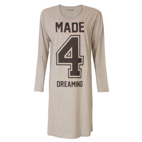 Temptation  Dames Bigshirt nachthemd Grey Melange TPNGD2802A