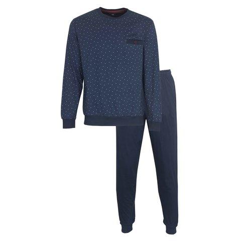 Paul Hopkins Heren Pyjama Navy Blauw PHPYH1003A