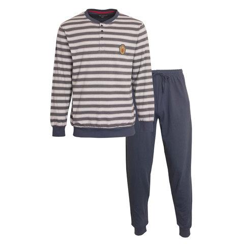Paul Hopkins Heren Pyjama Blauw-Grijs  PHPYH1006A