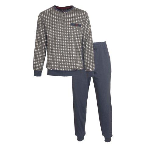 Paul Hopkins Heren Pyjama Blauw/Bruin PHPYH1007A