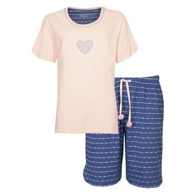 Tenderness Tenderness Dames Shortama Veiled Roze/Blauw TESAD1004A