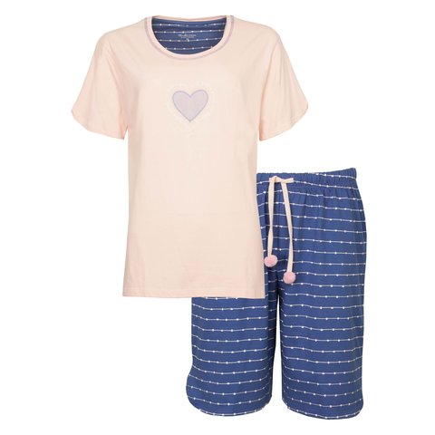 Tenderness Dames Shortama Veiled Roze/Blauw TESAD1004A