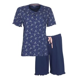Tenderness Tenderness Dames Shortama Blauw TESAD1005A