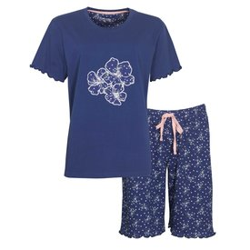 Tenderness Tenderness Dames Shortama blauw TESAD1006A