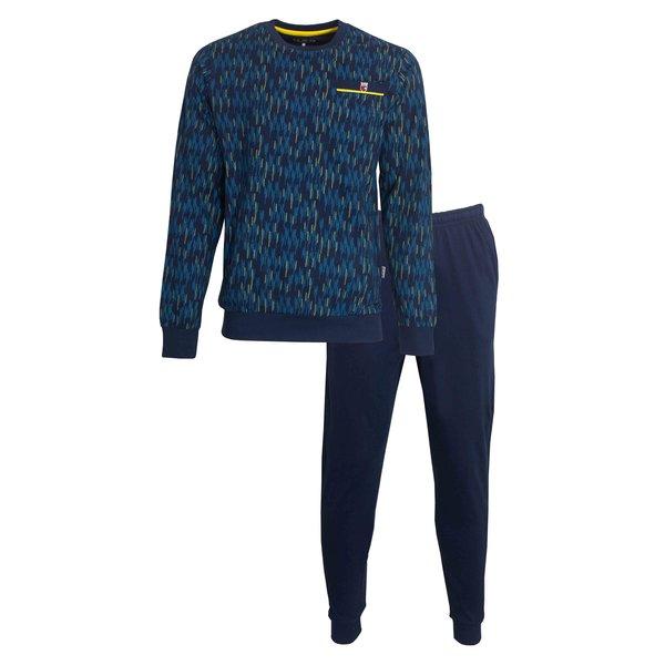 M.E.Q M.E.Q. Heren pyjama Blue Sapphire  MEPYH1001A