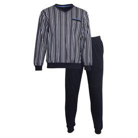 M.E.Q M.E.Q. Heren pyjama Black Iris  MEPYH1004A