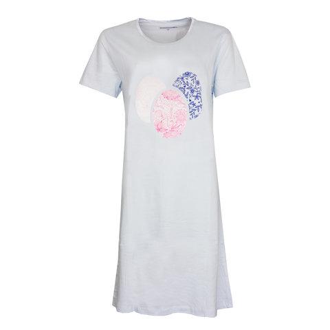 Temptation  Dames Bigshirt nachthemd Lichtblauw TPNGD1019A