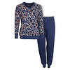 Medaillon Dames Pyjama Blauw MEPYD1003A