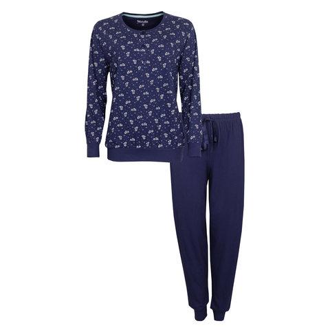 Medaillon Dames Pyjama Blauw MEPYD1007A