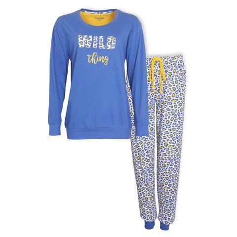 Irresistible Dames Pyjama Blauw IRPYD1001A