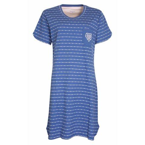 Tenderness  Dames  nachthemd Blauw TENGD1007A