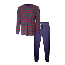 M.E.Q M.E.Q. Heren pyjama Crown Blue MEPYH1904A