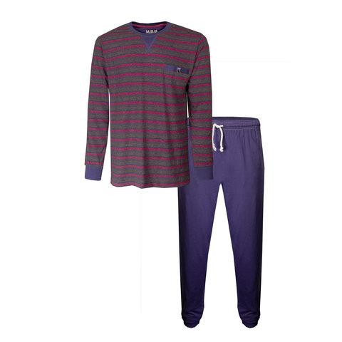 M.E.Q. Navy Blauw Heren pyjama MEPYH1904A