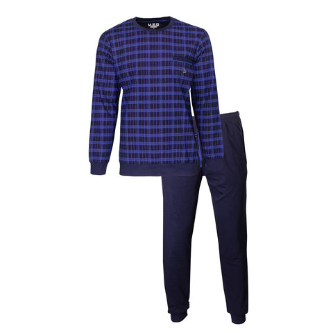 M.E.Q. Heren pyjama Donker Blauw MEPYH2904A