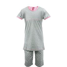 AnnaRebella AnnaRebella Meisjes Pyjama Grijs PYM24023A