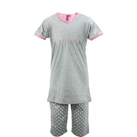 AnnaRebella Meisjes Pyjama Grijs PYM24023A