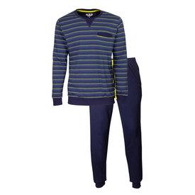 M.E.Q M.E.Q. Heren pyjama Blauw MEPYH2907A