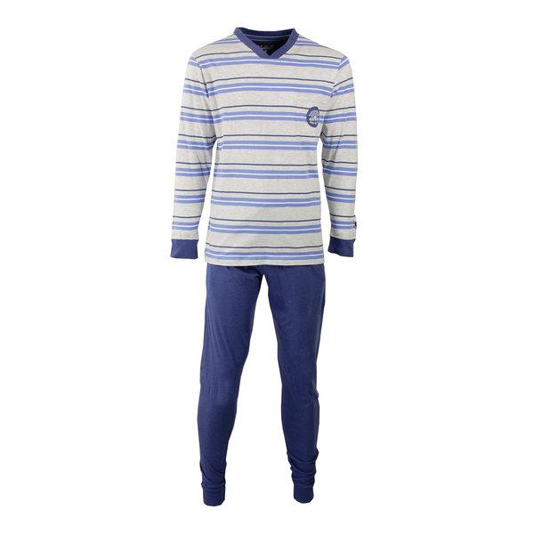 M.E.Q M.E.Q. Heren pyjama Indigo Blauw MEPYH1701A