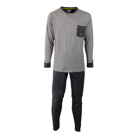 M.E.Q. Heren pyjama Ebony Grijs MEPYH1703B