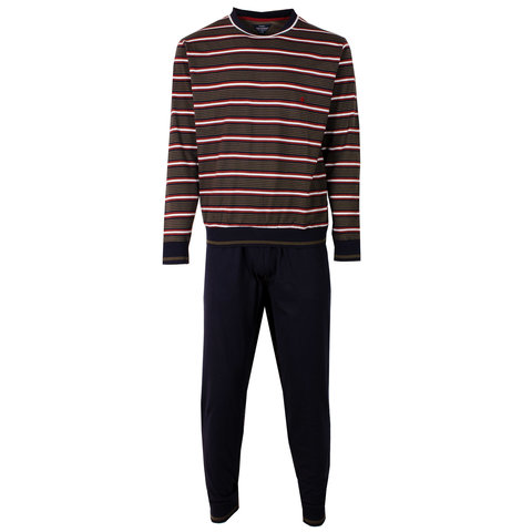 Paul Hopkins Heren Pyjama Donker Blauw / Rood PHPYH2408A