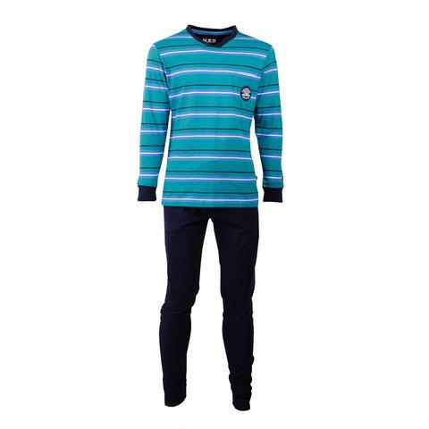 M.E.Q. Heren pyjama Blauw MEPYH1701B