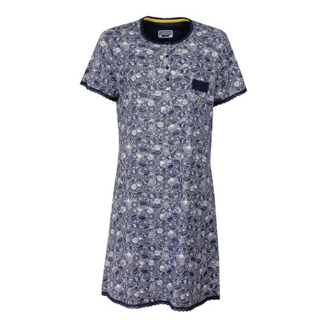 Tenderness  Dames Nachthemd Peacoat Blauw TENGD1604A