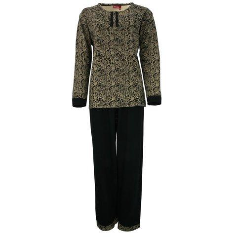 Medaillon Dames Pyjama Allover Gold MEPYD2305B
