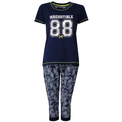 Irresistible Dames Pyjama Donker Blauw IRPYD1501B