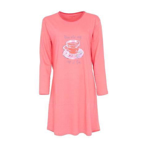 Temptation  Dames Bigshirt Nachthemd Roze TPNGD2009A