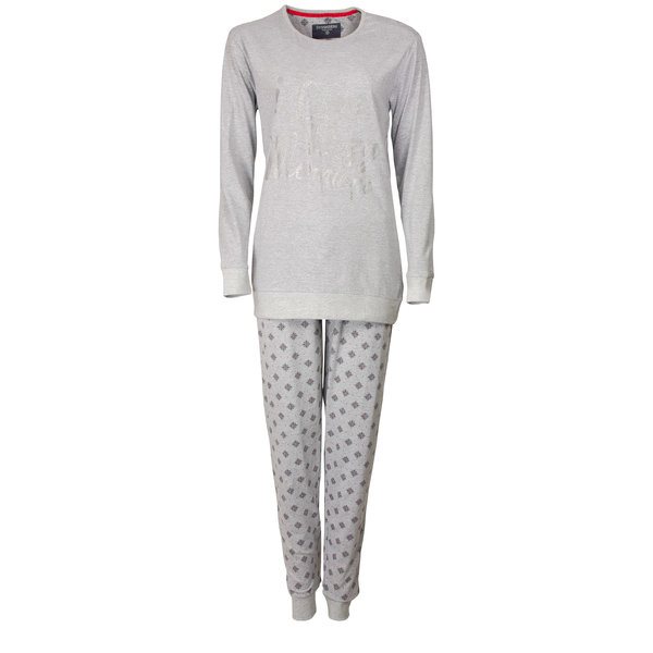 Irresistible Irresistible Dames Pyjama Grijs Melange IRPYD2601B