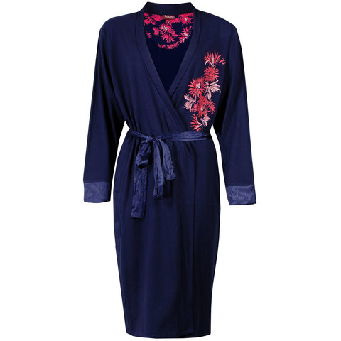 Medaillon Dames Badjas Peacoat Blauw MEBRD1501A