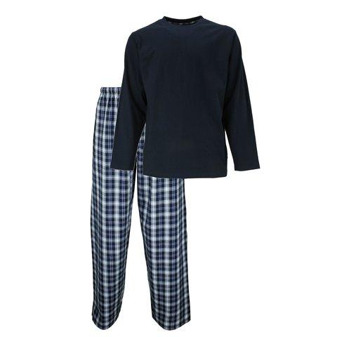 M.E.Q Heren Pyjama Navy Blauw MEPYH1306A
