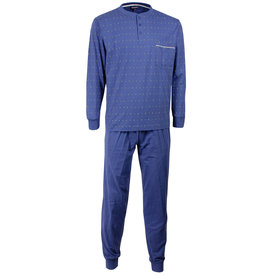 Paul Hopkins Paul Hopkins Blauw geprint dessin heren pyjama  PHPYH1508A