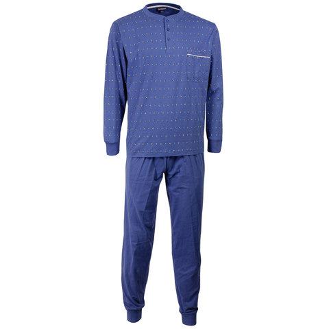 Paul Hopkins Blauw geprint dessin heren pyjama  PHPYH1508A