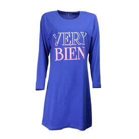 Temptation Temptation  Dames Bigshirt Nachthemd Cobalt Blauw TPNGD2706A