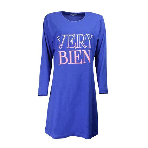 Temptation  Dames Bigshirt Nachthemd Cobalt Blauw TPNGD2706A