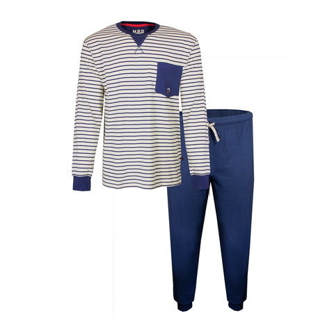 M.E.Q. Heren pyjama Blauw MEPYH1903A