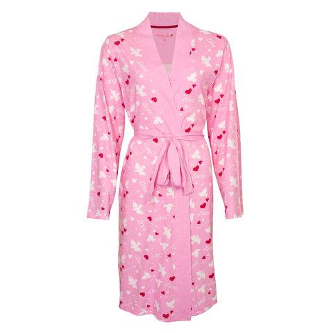 Tenderness Roze dames badjas TEBRD1102A