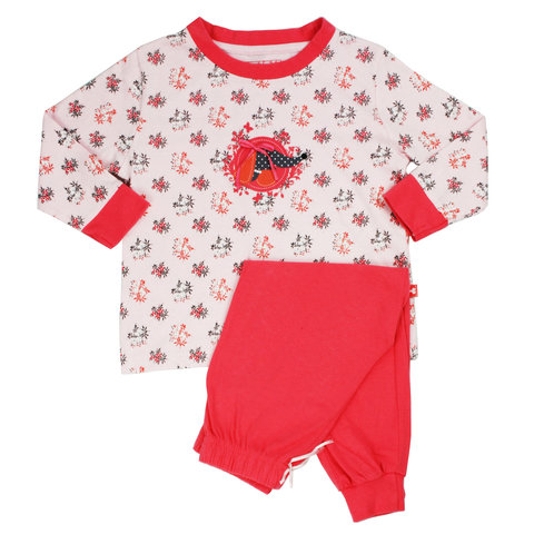 AngelFish Beige-Rode Meisjes Pyjama AFPYY1304A