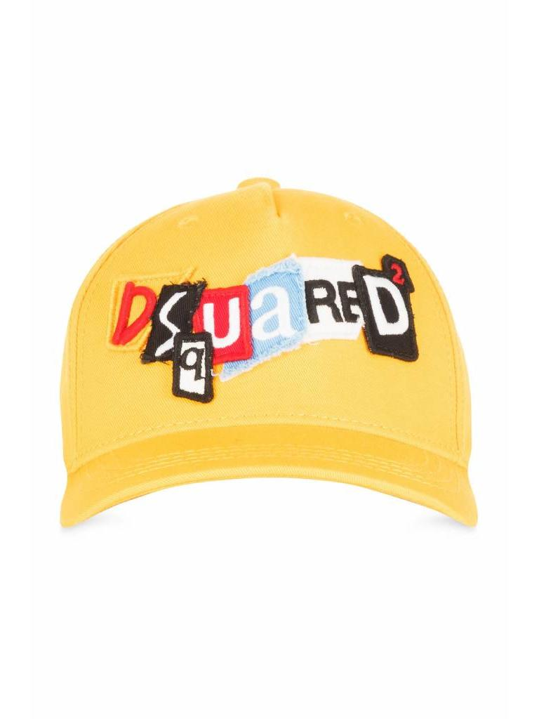 18c5b0bd6 Dsquared2 Dsquared2 Kids Cap Colored Letters Yellow