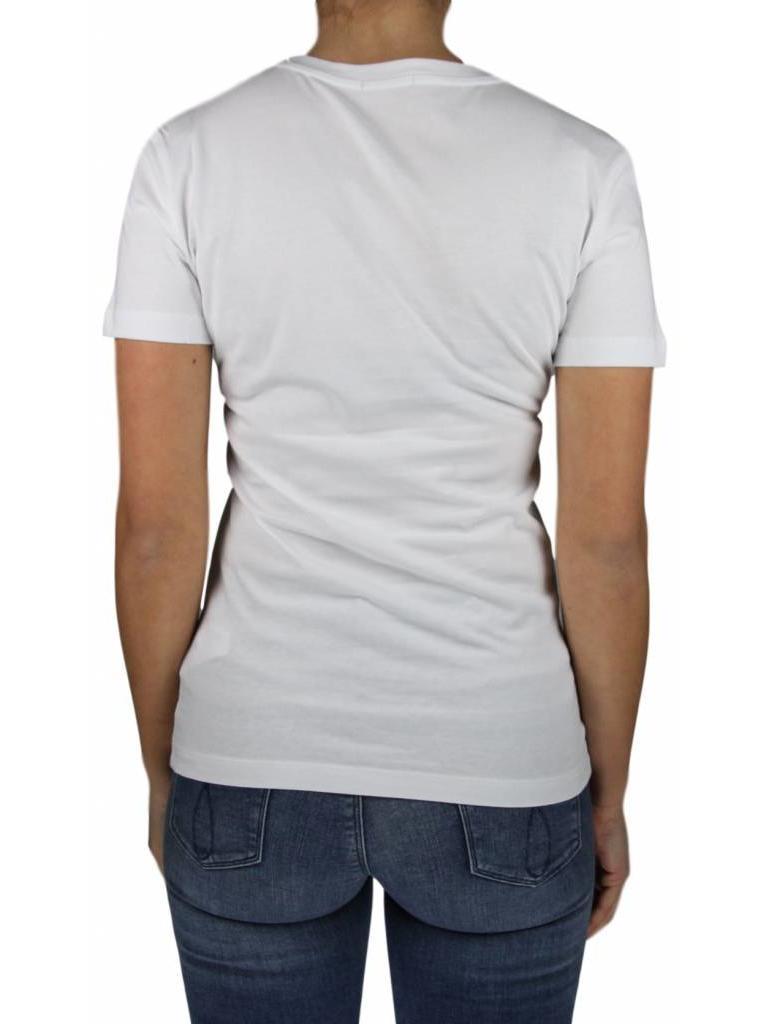 615fd99aef31 Calvin Klein Calvin Klein Tanya 40 Cn Tee Bright White Tango Red ...