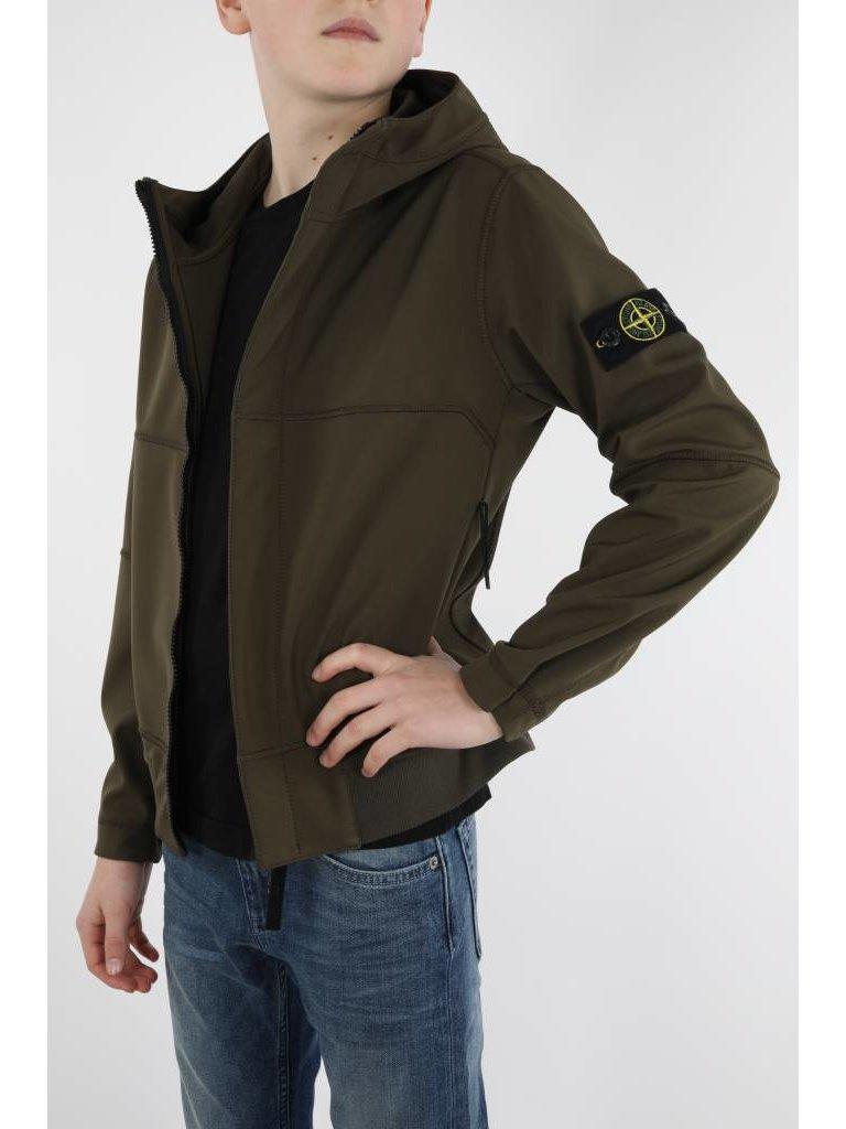 Stone Island Army green Softshell Jacket OUTFITonline.nl