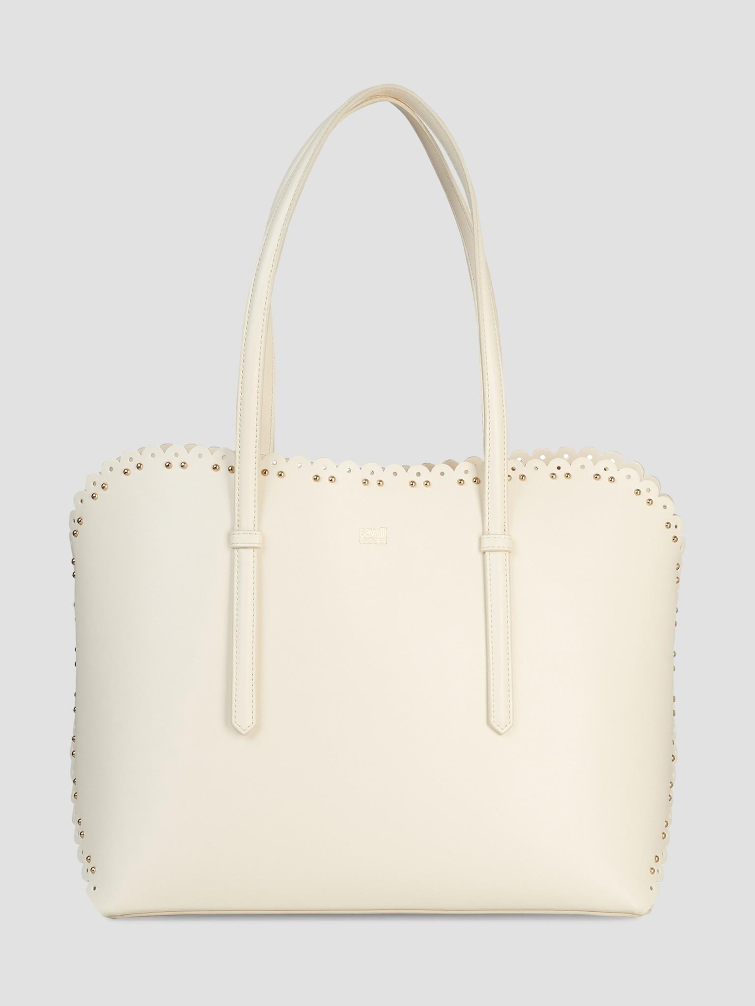 los angeles 7f6fb dda83 Cavalli Class Leolace Shopping Bag White