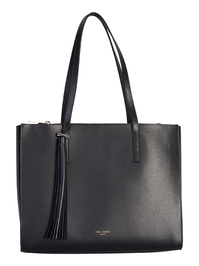 Ted Baker Narissa Leather Tassel Detail Large Tote Black