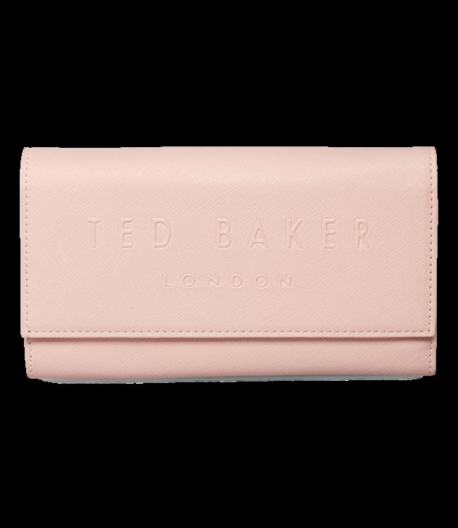 Ted Baker Telifi Deboss Phone Purse On Chain Dusky Pink