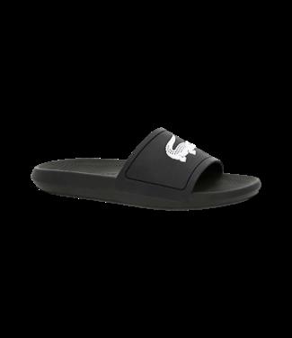 Lacoste Croco Slide Black White