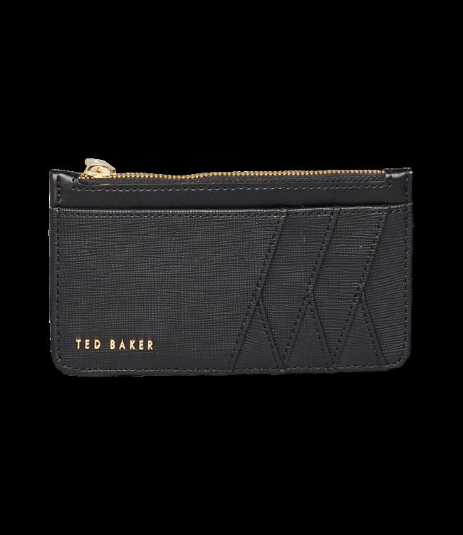 Ted Baker Kennet Diagonal Zipped Creditcard Holder Black