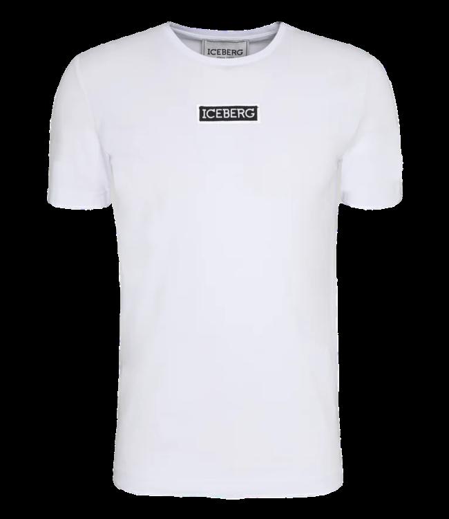 Iceberg T-Shirt Logo Badge White