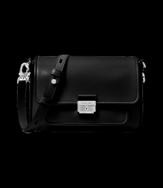 Michael Kors Bradshaw Medium Leather Messenger Zwart